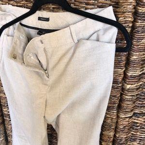 Kahki Color Boot-Cut Trousers